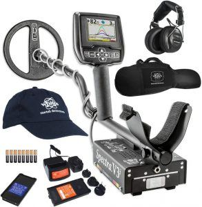 Whites Spectra V3i HP metal detector and accessories