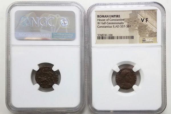 Bronze Roman Gladiator Coin