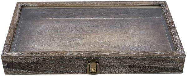 Mooka natural wood jewelry display case