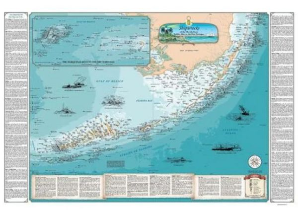 Shipwreck Map of Florida Keys