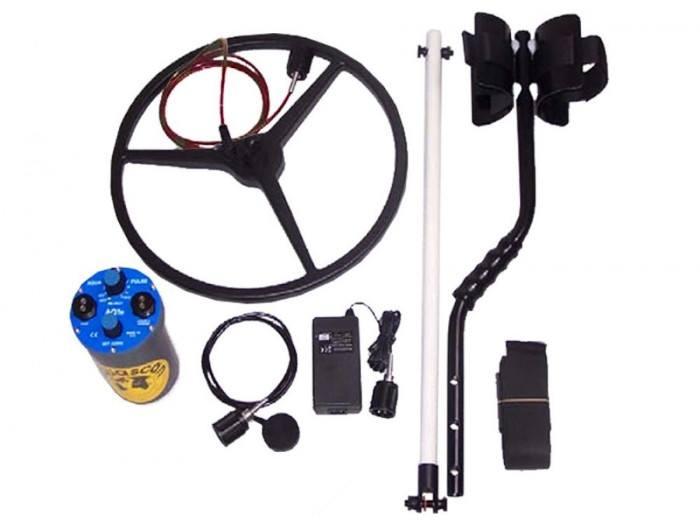 Accessories with Aquascan Aquapulse AQ1B submersible metal detector