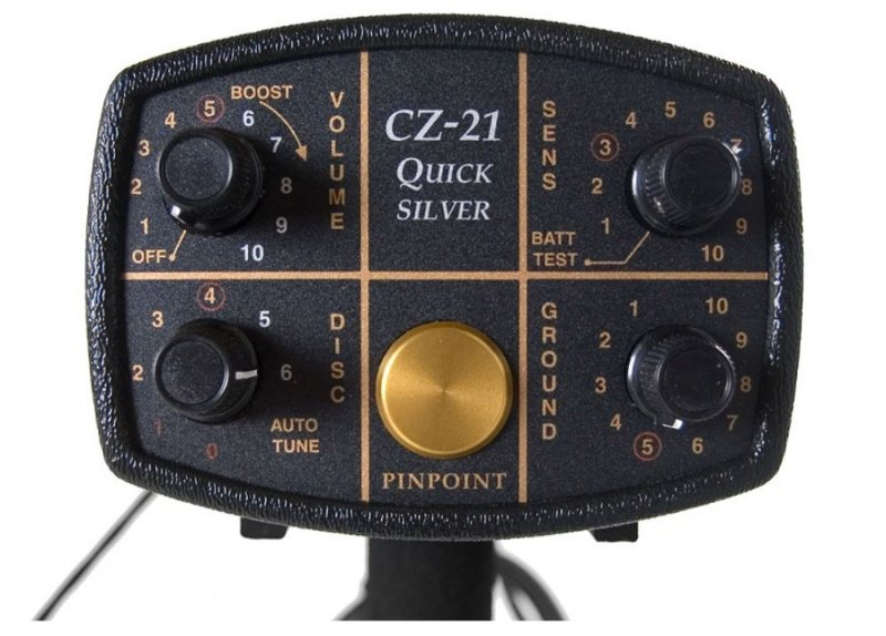 controls on Fisher CZ-21 metal detector